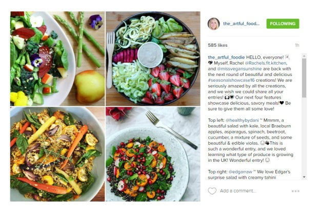 Still can't believe these influential IG's chose to feature my salad :)