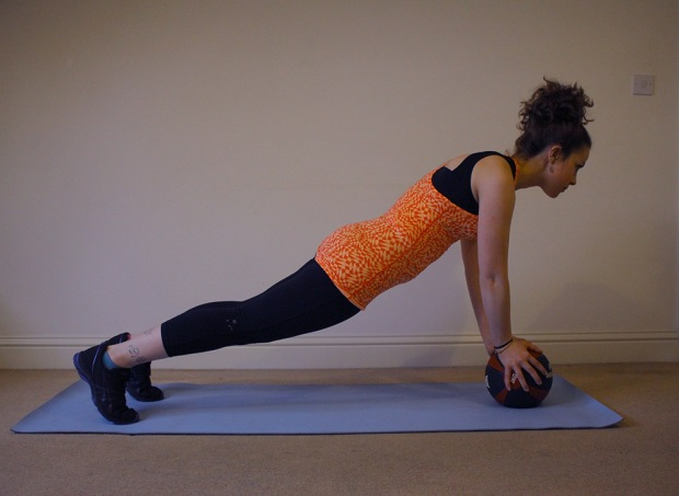 7 Great At Home Medicine Ball Workouts Plank