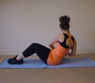 Try and keep your back straight your navel pulled in, this will help activate your core muscles.