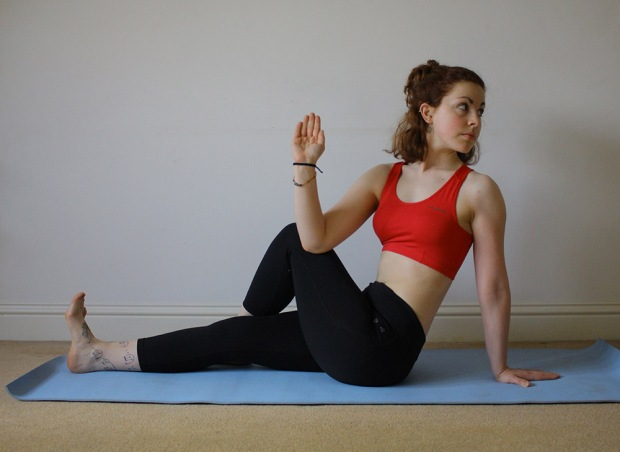 Strengthening back and core muscles. Photo by Danielle Bussell