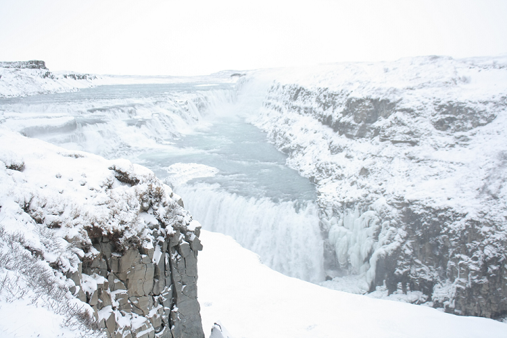 The incredible waterfall Gullfoss. Photos by Danielle Bussell